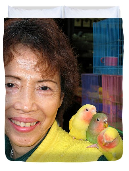 Love Birds Duvet Cover by Eva Kaufman