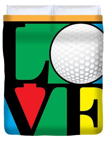 Love Golf Duvet Cover by Gary Grayson