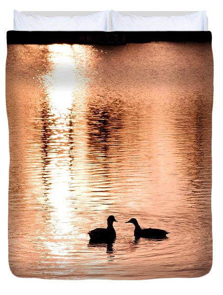 love in water Duvet Cover by Hilde Widerberg