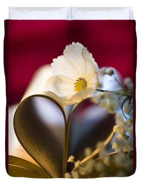 Love is all Around Duvet Cover by Jan Bickerton