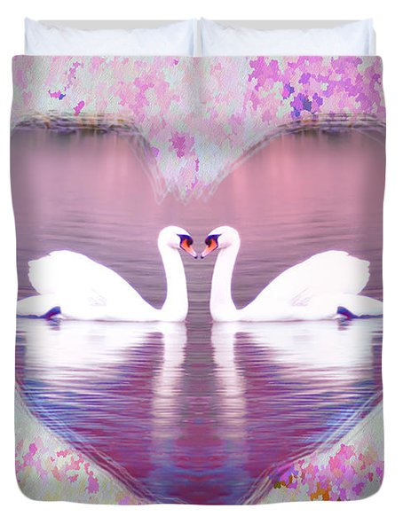 Love is Everywhere Duvet Cover by Bill Cannon