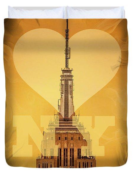 Love New York Duvet Cover by Az Jackson