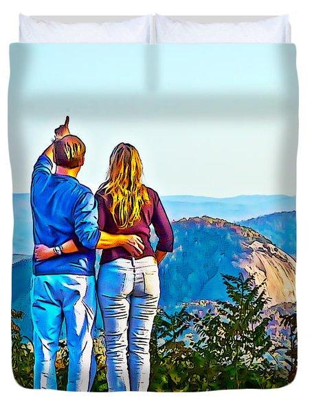 Love On The Rock Duvet Cover by John Haldane