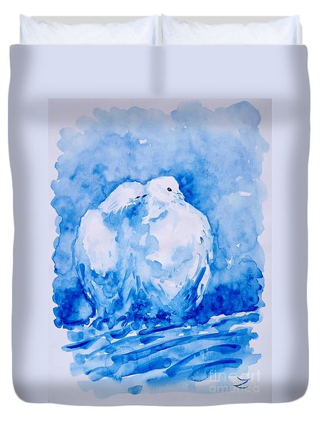 Love  Duvet Cover by Zaira Dzhaubaeva