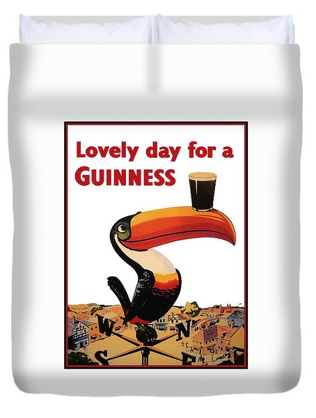 Lovely Day For A Guinness Duvet Cover by Georgia Fowler