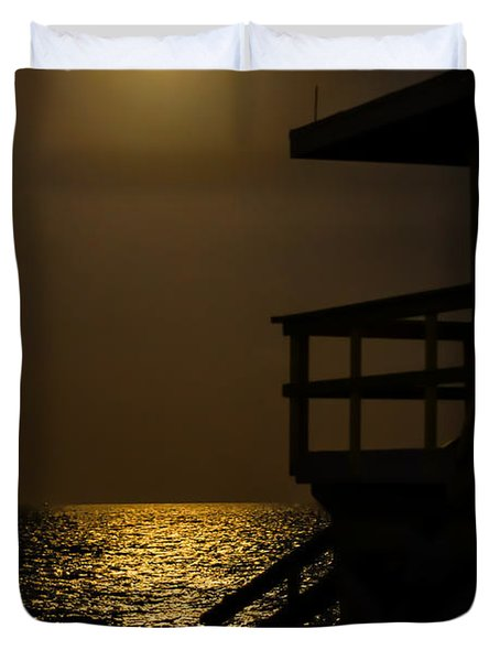 Lovers Moon Duvet Cover by Rene Triay Photography