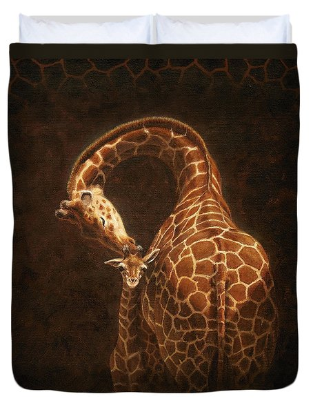 Love's Golden Touch Duvet Cover by Crista Forest