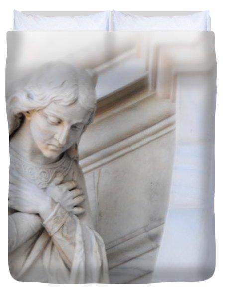 Loving Angel Duvet Cover by Kathleen Struckle