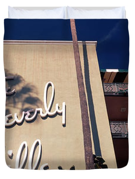 Low Angle View Of A Hotel, Beverly Duvet Cover by Panoramic Images