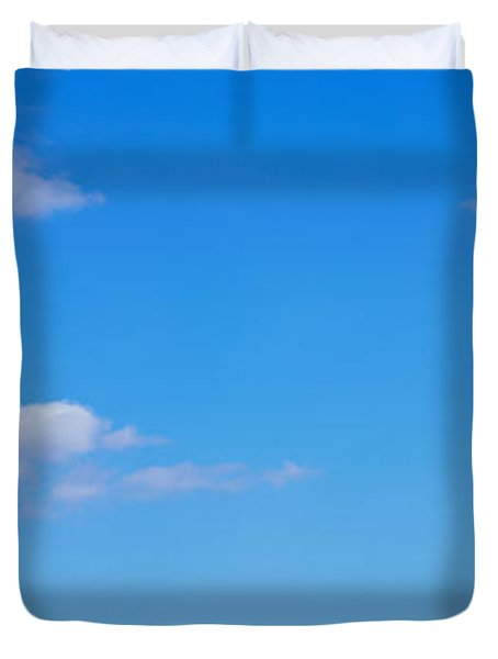 Low Angle View Of A Statue, Statue Duvet Cover by Panoramic Images