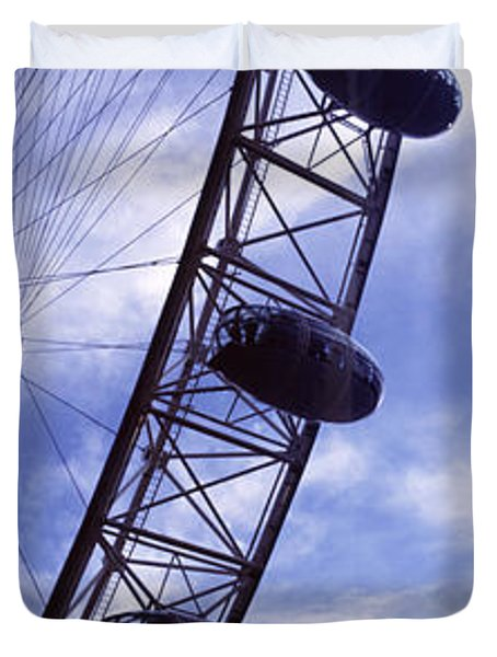 Low Angle View Of The London Eye, Big Duvet Cover by Panoramic Images