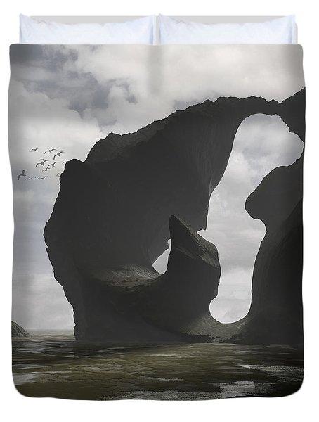 Low Tide Duvet Cover by Cynthia Decker