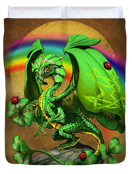 Luck Dragon Duvet Cover by Stanley Morrison