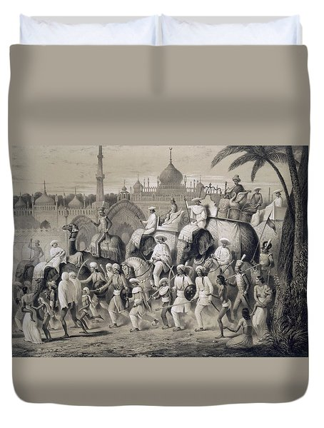Lucknow, The Principal Street Duvet Cover by A Soltykoff