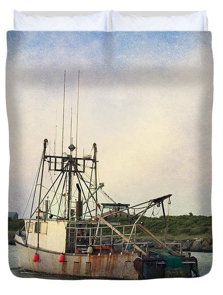 Lucky Catch Duvet Cover by A New Focus Photography
