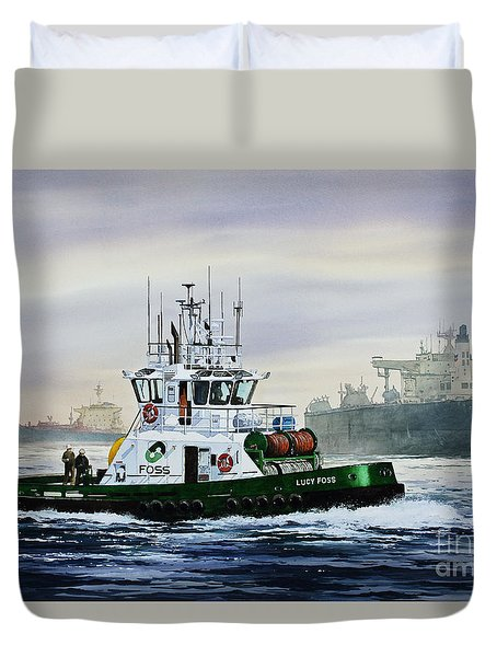 Lucy Foss Duvet Cover by James Williamson
