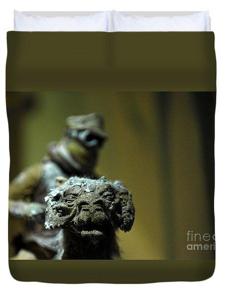 Luke On His Tawn Tawn 3 Duvet Cover by Micah May