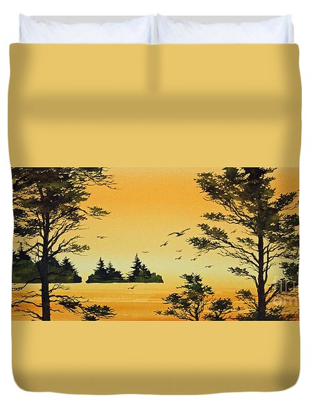 Luminous Sunset Duvet Cover by James Williamson