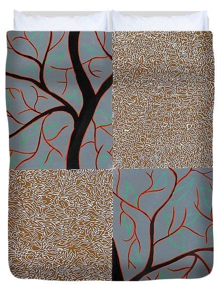 Luminous Tree Of Barsoom Duvet Cover by Sumit Mehndiratta