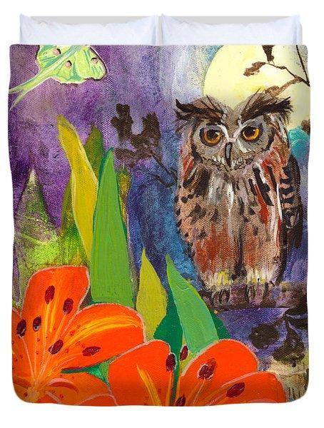 Lunar Enchantment Duvet Cover by Robin Maria  Pedrero