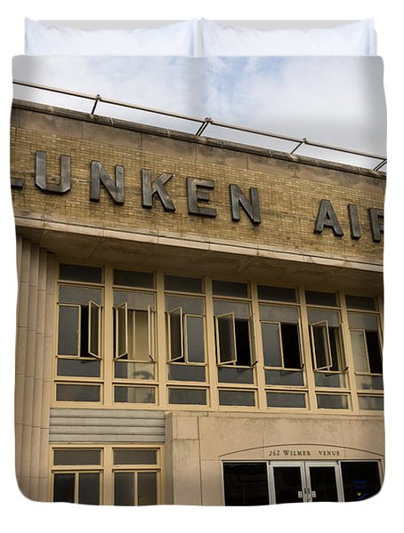 Lunken Airport in Cincinnati Ohio Duvet Cover by Paul Velgos