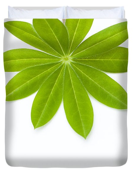 Lupin Leaf Duvet Cover by Anne Gilbert