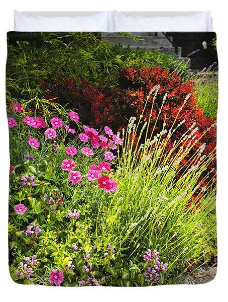 Lush garden Duvet Cover by Elena Elisseeva
