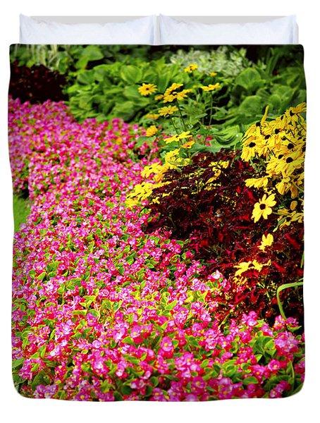 Lush Summer Garden Duvet Cover by Elena Elisseeva