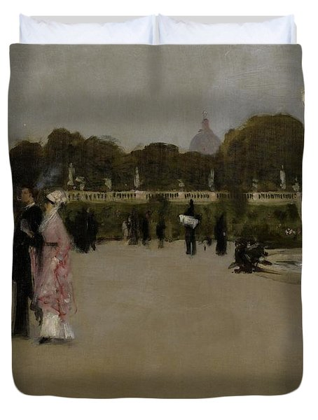 Luxembourg Gardens At Twilight Duvet Cover by John Singer Sargent