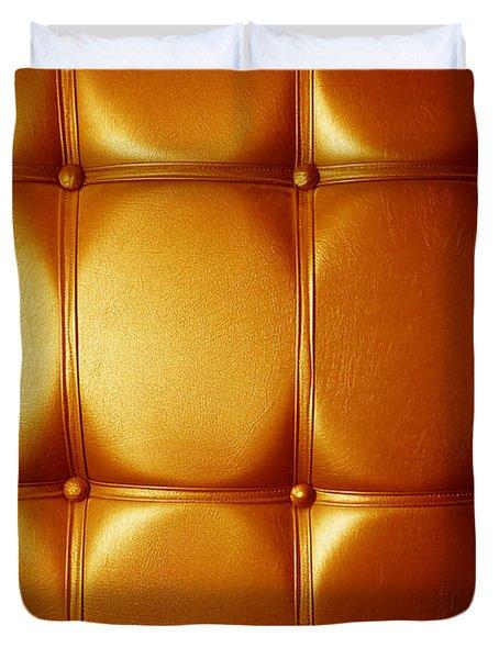 Luxury Genuine Leather. Golden Color Duvet Cover by Michal Bednarek