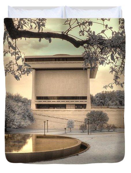 Lyndon B Johnson Presidential Library Duvet Cover by Jane Linders