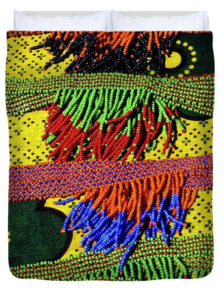 Maasai Beadwork Duvet Cover by Michele Burgess