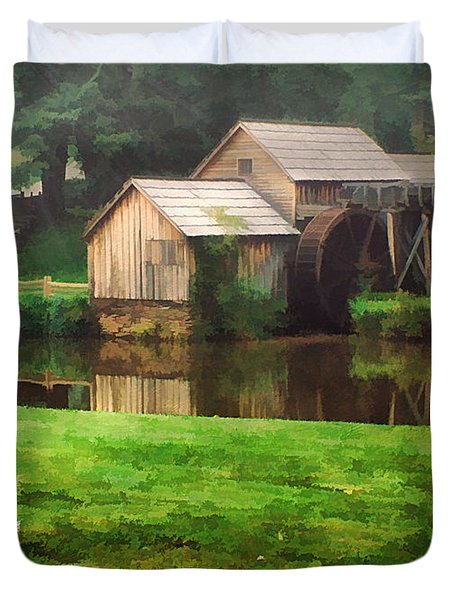 Mabrys Mill and the Welcoming Committee Duvet Cover by Darren Fisher