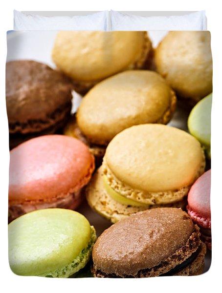 Macaroon cookies Duvet Cover by Elena Elisseeva