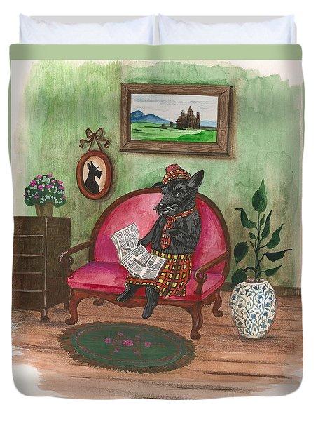 Macduff After Work Duvet Cover by Margaryta Yermolayeva