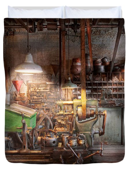 Machinist - It all starts with a Journeyman  Duvet Cover by Mike Savad