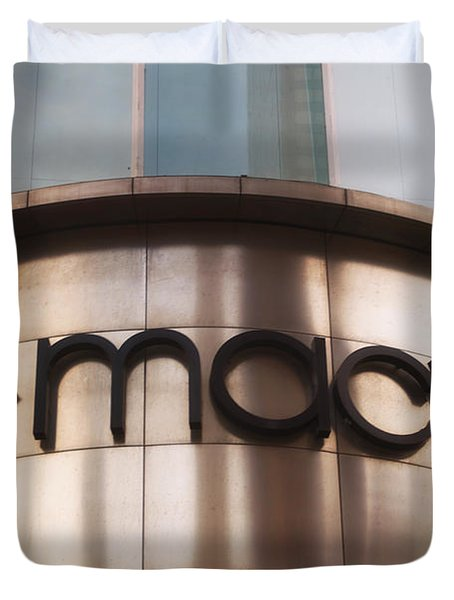 Macys Signage Duvet Cover by Thomas Woolworth