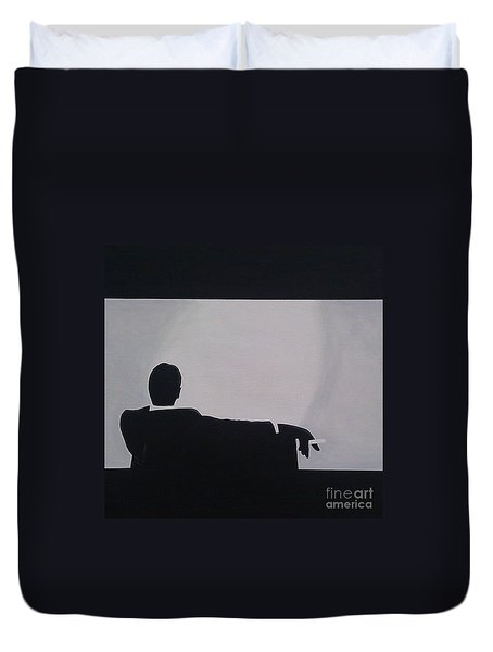 Mad Men in Silhouette Duvet Cover by John Lyes