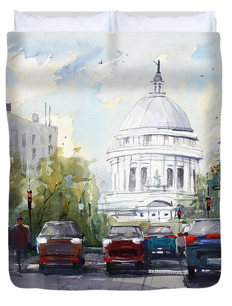 Madison - Capitol Duvet Cover by Ryan Radke