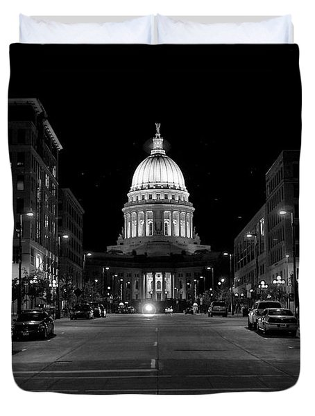 Madison Wi Capitol Dome Duvet Cover by Trever Miller