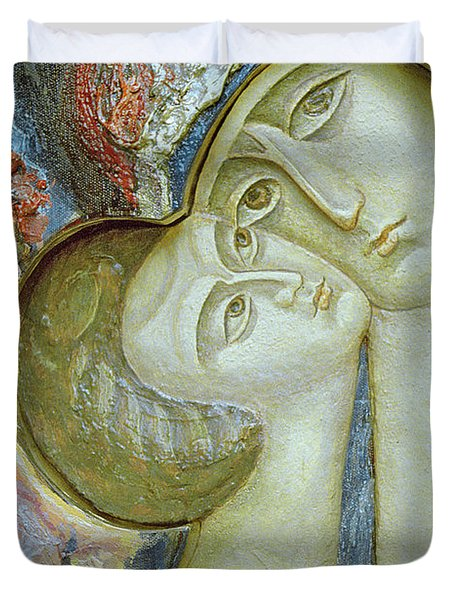 Madonna And Child Duvet Cover by Alek Rapoport
