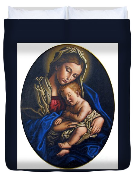 Madonna And Child Duvet Cover by Jane Whiting Chrzanoska
