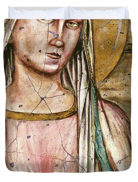 Madonna Del Parto - Study No. 1 Duvet Cover by Steve Bogdanoff
