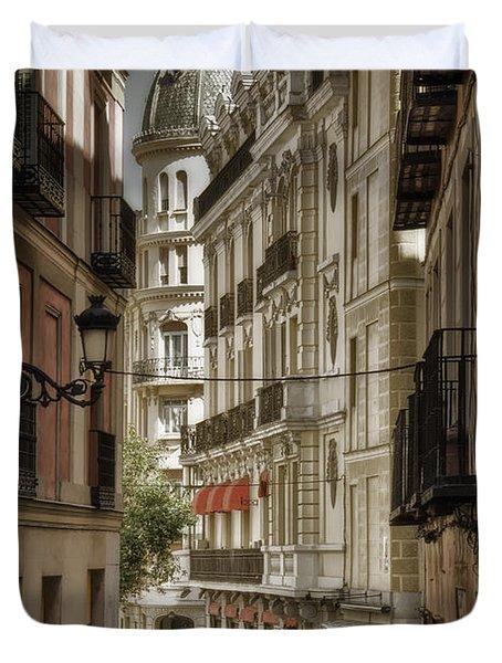 Madrid Streets Duvet Cover by Joan Carroll
