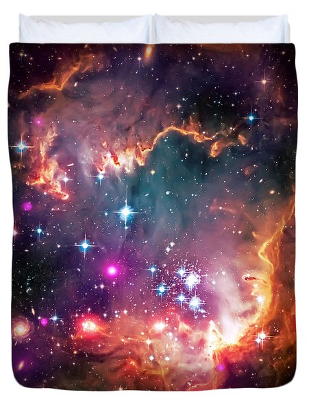 Magellanic Cloud 2 Duvet Cover by The  Vault - Jennifer Rondinelli Reilly