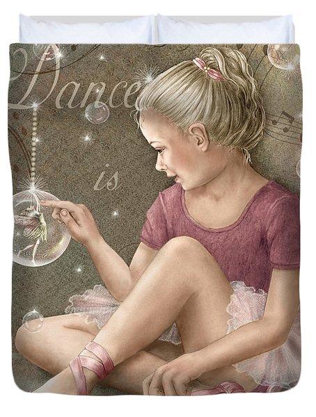 Magic Ballerina Duvet Cover by Beverly Levi-Parker