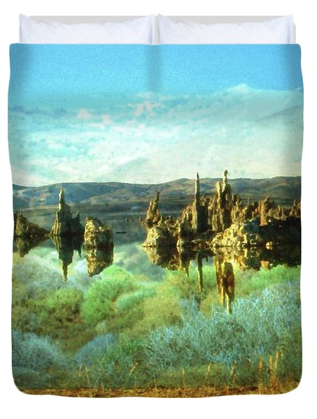 Magic Lake - Fantasy Landscape Duvet Cover by Peter Fine Art Gallery  - Paintings Photos Digital Art