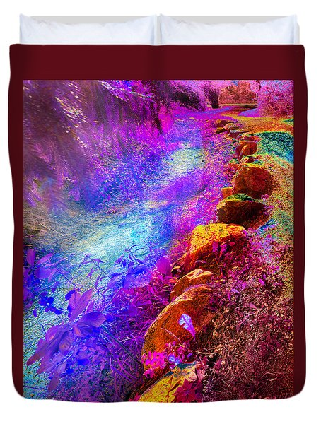 Magic Pathway II Duvet Cover by William Beuther