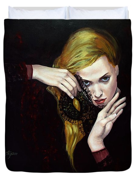 Magie Noir Duvet Cover by Dorina  Costras