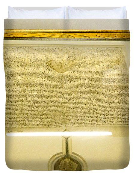 Magna Carta Duvet Cover by Steven Ralser